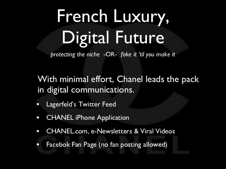chanel marketing strategy Multichannel marketing represents a convergence of channel  but are part of a bigger strategy that includes new media and evolve along with changing customer.