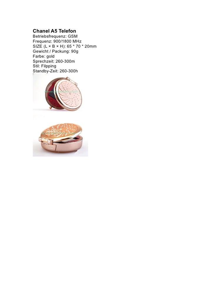 Chanel A5 Telefon Betriebsfrequenz: GSM Frequenz: 900/1800 MHz SIZE (L × B × H): 65 * 70 * 20mm Gewicht / Packung: 90g Far...