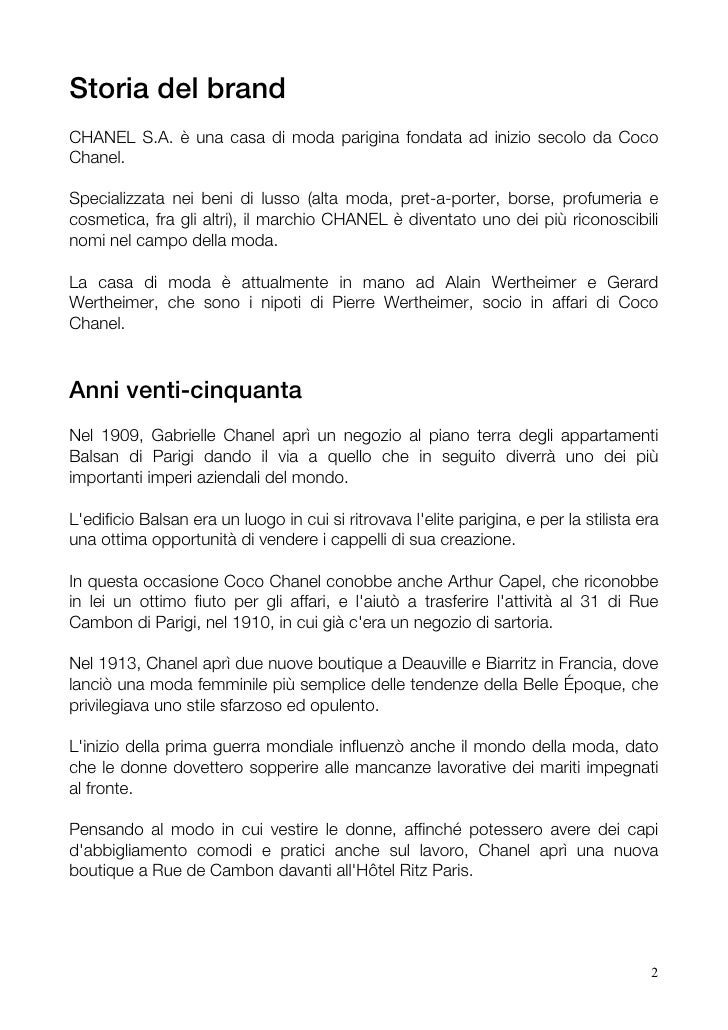 83ba25e33e6d Chanel - Brand Analysis