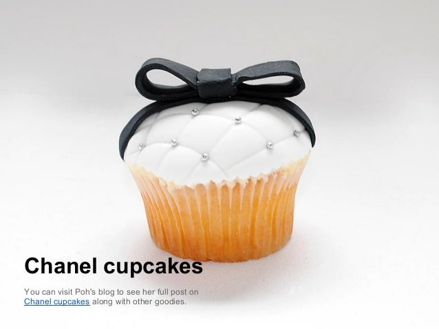 Chanel cupcakesYou can visit Pohs blog to see her full post onChanel cupcakes along with other goodies.