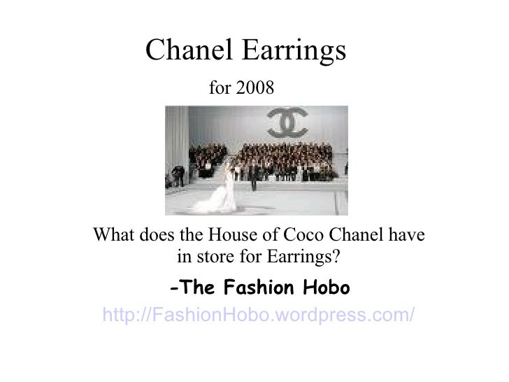 Chanel Earrings for 2008   What does the House of Coco Chanel have in store for Earrings? - The Fashion Hobo http://Fashio...