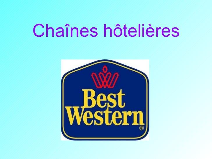 Chaînes hôtelières
