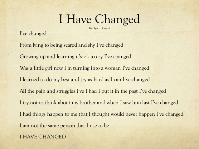 change poetry e book