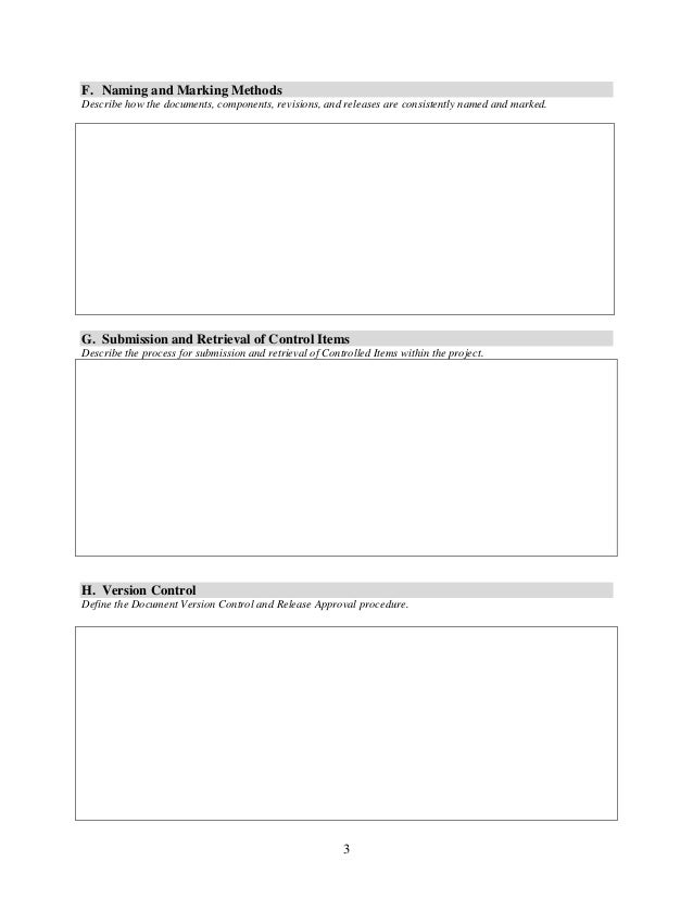 Change AndConfigurationManagementPlanTemplate