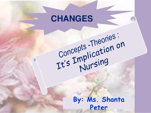 1 CHANGES By: Ms. Shanta Peter