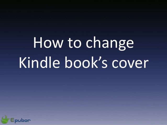 How to changeKindle book's cover