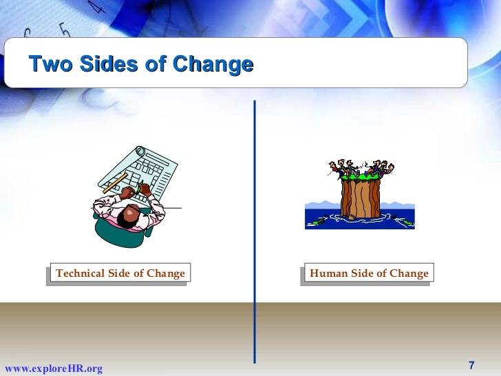 ... 7. Technical Side of Change Human Side ...