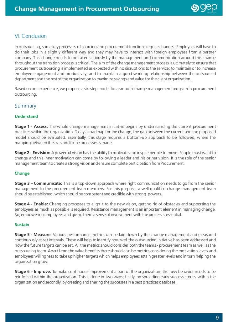 strategic change management essay
