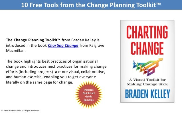 10 Free Tools from the Change Planning Toolkit™ © 2015 Braden Kelley . All Rights Reserved The Change Planning Toolkit™ fr...