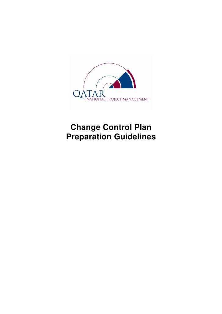 Change Control PlanPreparation Guidelines