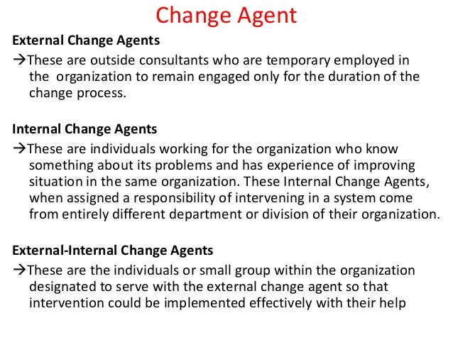 skills of change agent