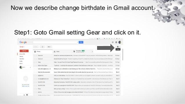 how to change birthday