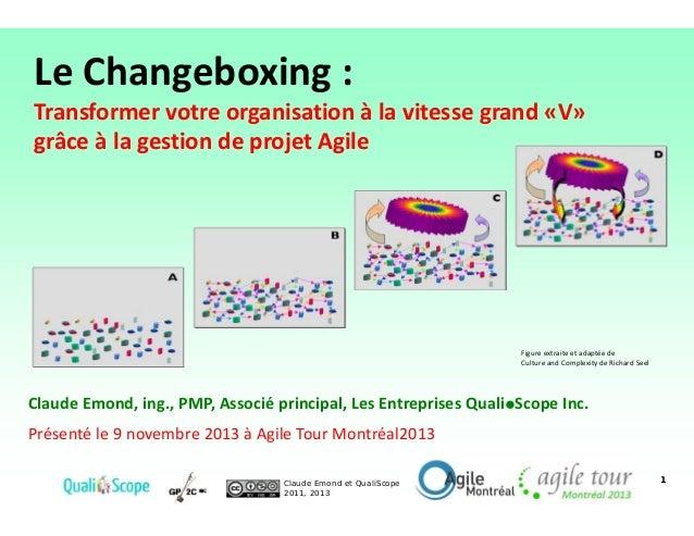 Le Changeboxing :  Transformer votre organisation à la vitesse grand «V» grâce à la gestion de projet Agile  Figure extrai...