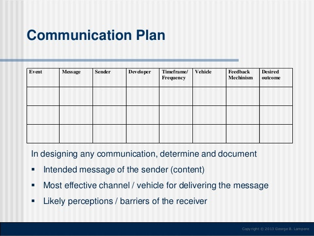 Change Management Communication Plan Sample Image Gallery  Hcpr