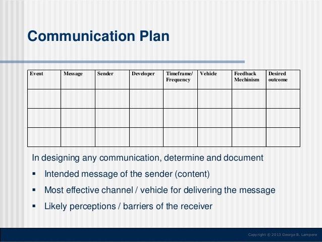 Communication Plan ...