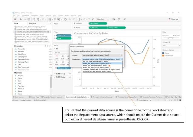 Tableau Dashboard - Change data source