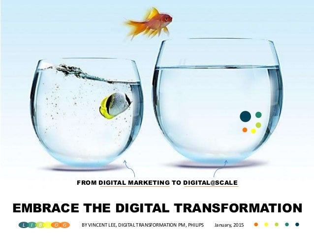 FROM DIGITAL MARKETING TO DIGITAL@SCALE EMBRACE THE DIGITAL TRANSFORMATION BY VINCENT LEE, DIGITAL TRANSFORMATION PM, PHIL...