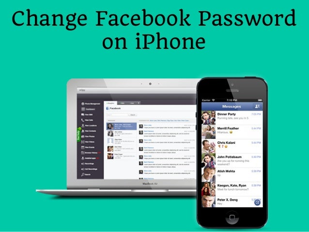 Change Facebook Password on iPhone
