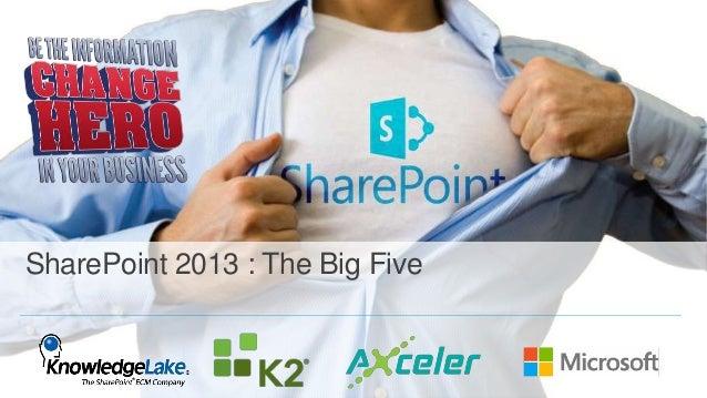 SharePoint 2013 : The Big Five
