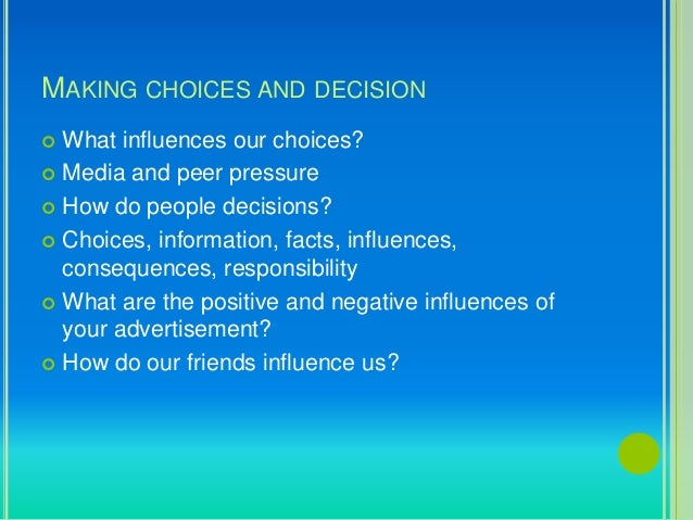advertisement influence our choices