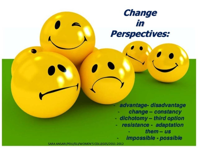 Change                                          in                                     Perspectives:                      ...