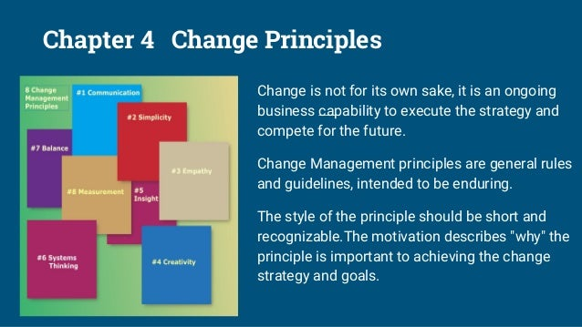 Chapter 5 Change as an Ongoing Capaibility Change is a volatile subject, just like change itself. Everything changes conti...