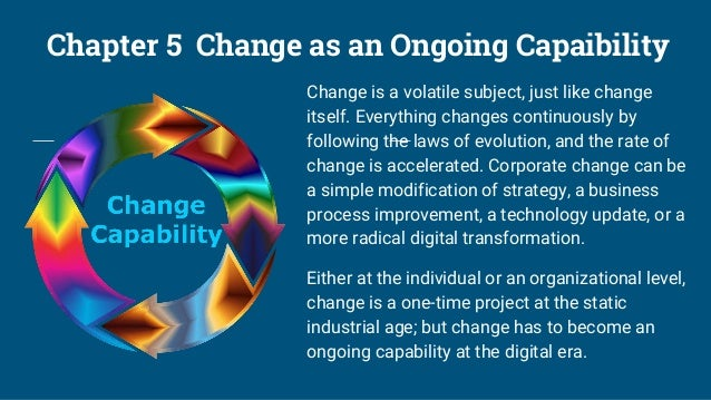 Chapter 6 The Pitfalls of Change Management Change is inevitable, and the speed of change is increasing. How capable the b...