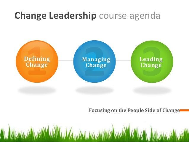 Change Leadership Workshop Managing The People Side Of Change