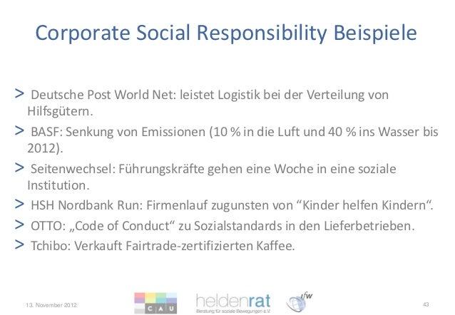 corporate social responsibility beispiele - Csr Beispiele