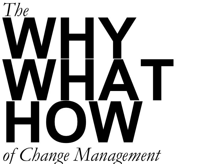 WHY WHAT HOW The of Change Management
