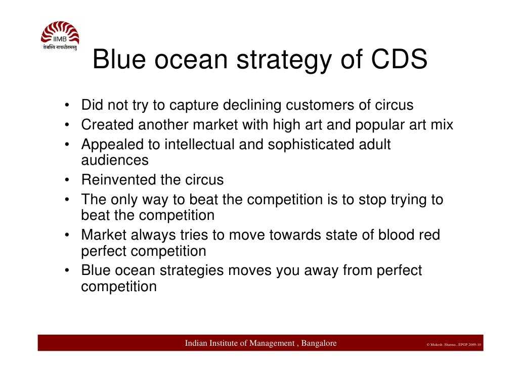Change Management and Blue Ocean strategies