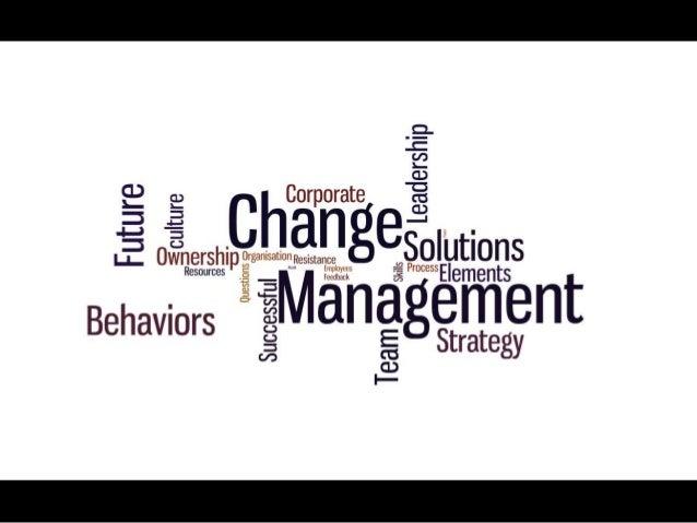 Change management Slide 2