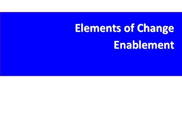 Elements of Change Enablement