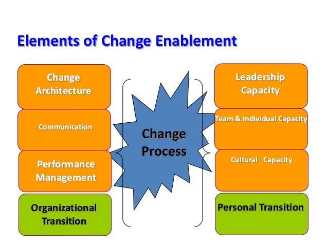 Change Architecture Communication Performance Management Organizational Transition Leadership Capacity Team & Individual C...