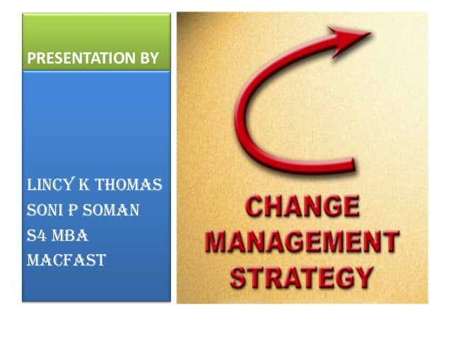Change management strategy ppt