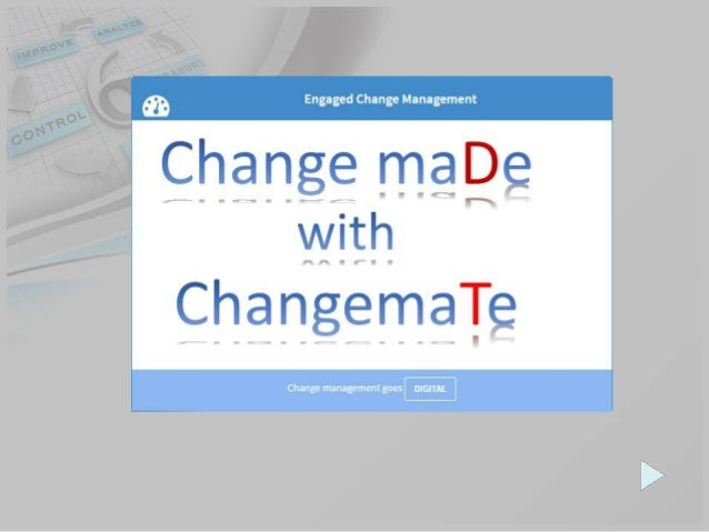 Dashboard for project participants – What, How, When and Who engaged into the change. Aligned change and project managemen...