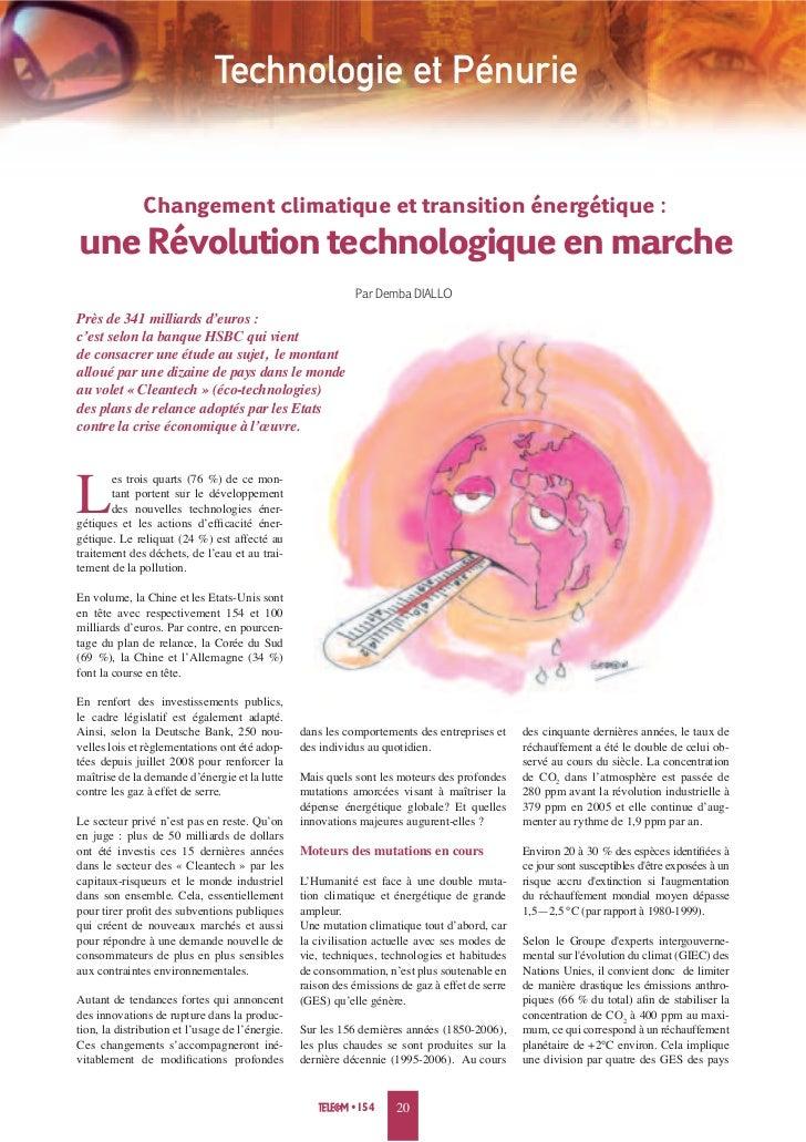 Technologie et Pénurie              Changement climatique et transition énergétique :une Révolution technologique en march...