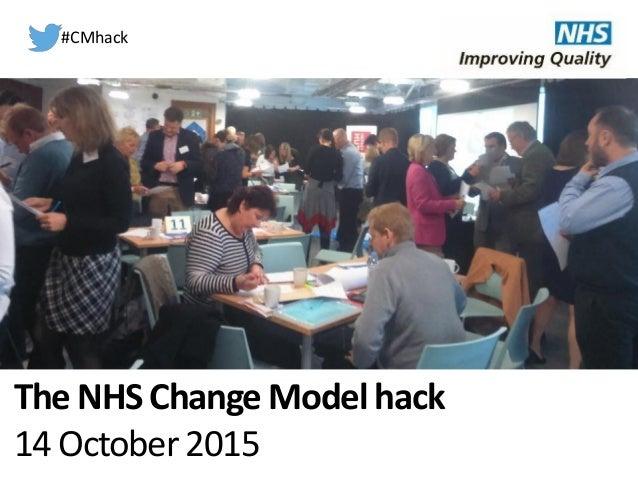 The NHS Change Model hack 14 October 2015 #CMhack