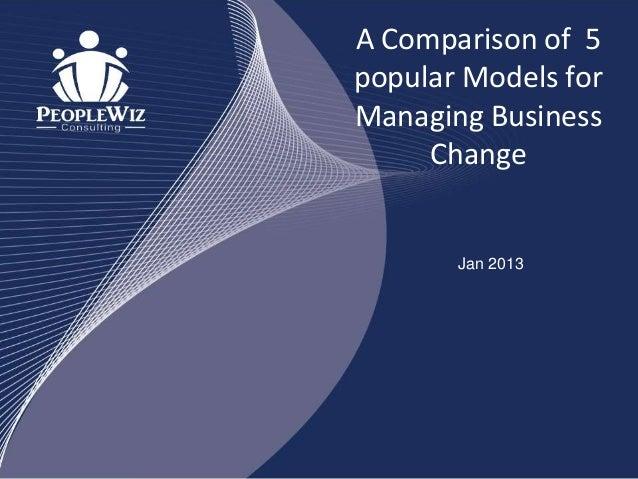 A Comparison of 5 popular Models for Managing Business Change Jan 2013