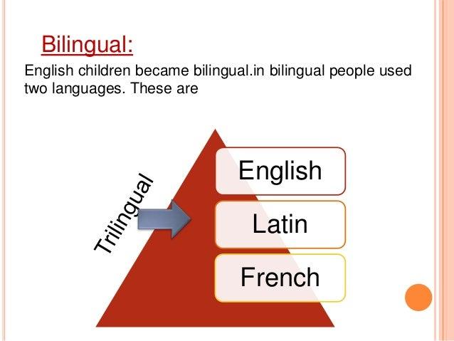 Change Of Language In English
