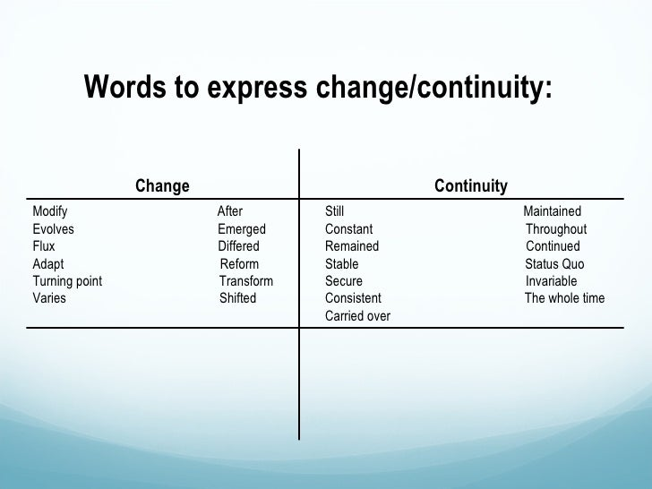 how to analyze change over time