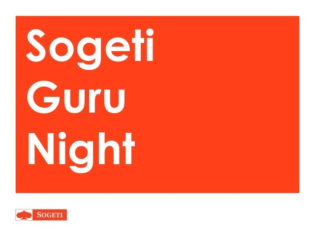 Sogeti Guru Night