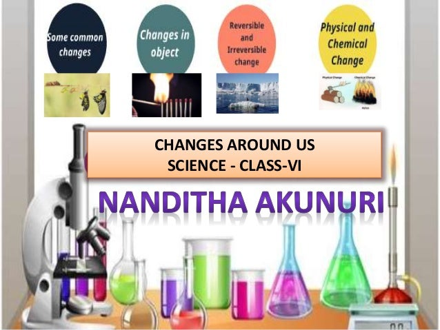 CHANGES AROUND US SCIENCE - CLASS-VI