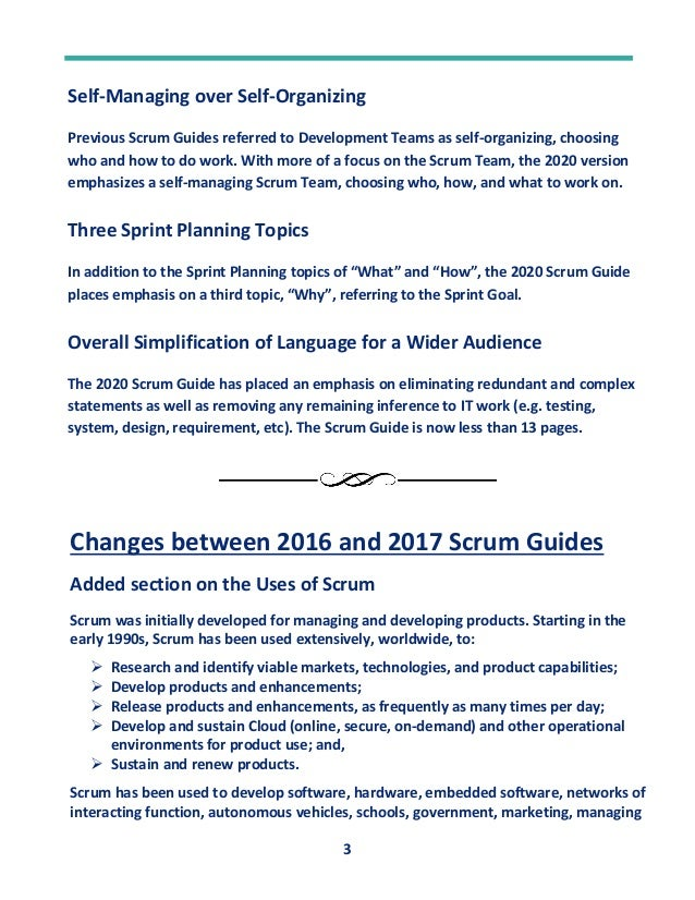 Changes Between Different Versions Scrum Guides Slide 3