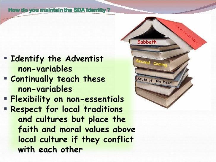 Sabbath Second  Coming State of  the Dead Non-Variables <ul><li>Identify the Adventist  </li></ul><ul><li>non-variables </...