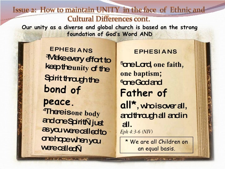 5 one Lord,  one faith, one baptism ; 6 one God and  Father of all* , who is over all, and through all and in  all.  Eph 4...