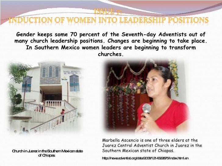 Gender keeps some 70 percent of the Seventh-day Adventists out of many church leadership positions. Changes are beginning ...
