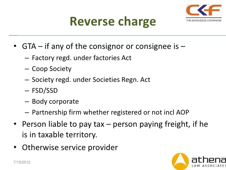 Changes in C... Reverse Charge On Gta
