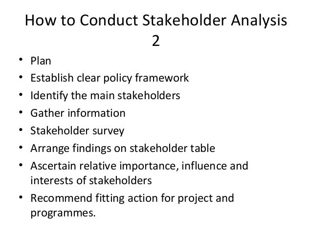 Organisation 24 How To Conduct Stakeholder Analysis
