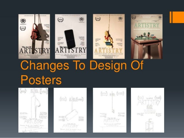 Changes To Design Of Posters